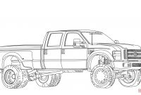 Ford Truck Coloring Pages - 2012 ford F350 Dually Lifted Coloring Page Printable
