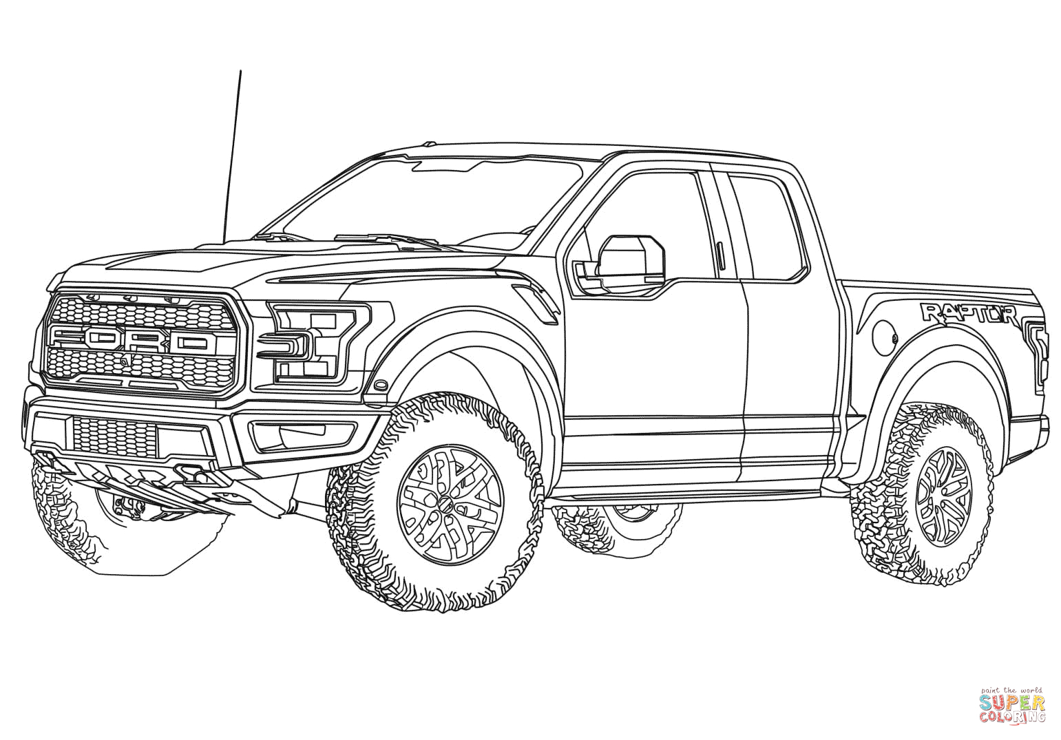 Ford Truck Coloring Pages Download 4o - To print for your project