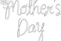 Mothers Day Coloring Pages for Preschool - 30 Free Printable Mother S Day Coloring Pages to Print