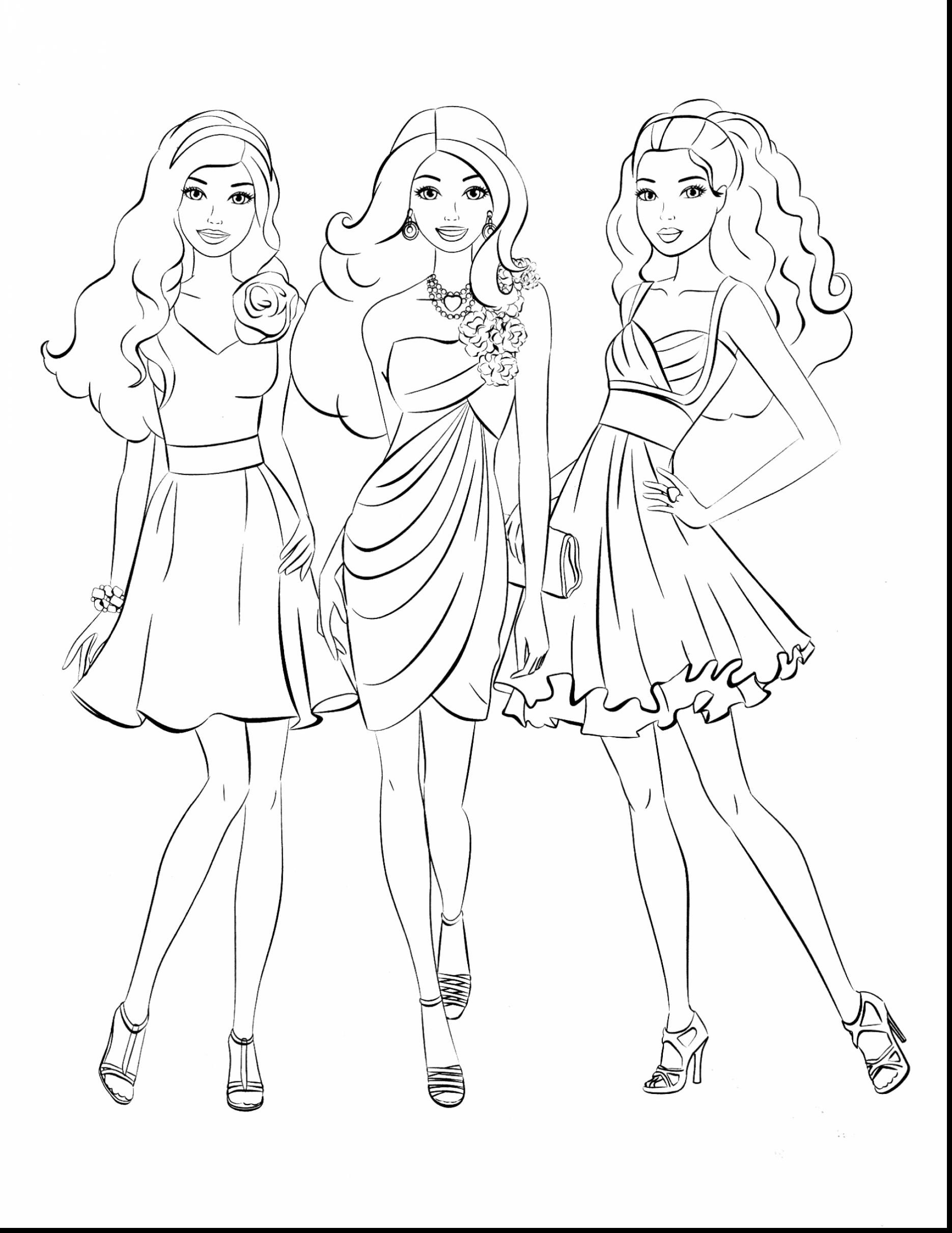 Barbie In the Dream House Coloring Pages Collection – Free Coloring ...