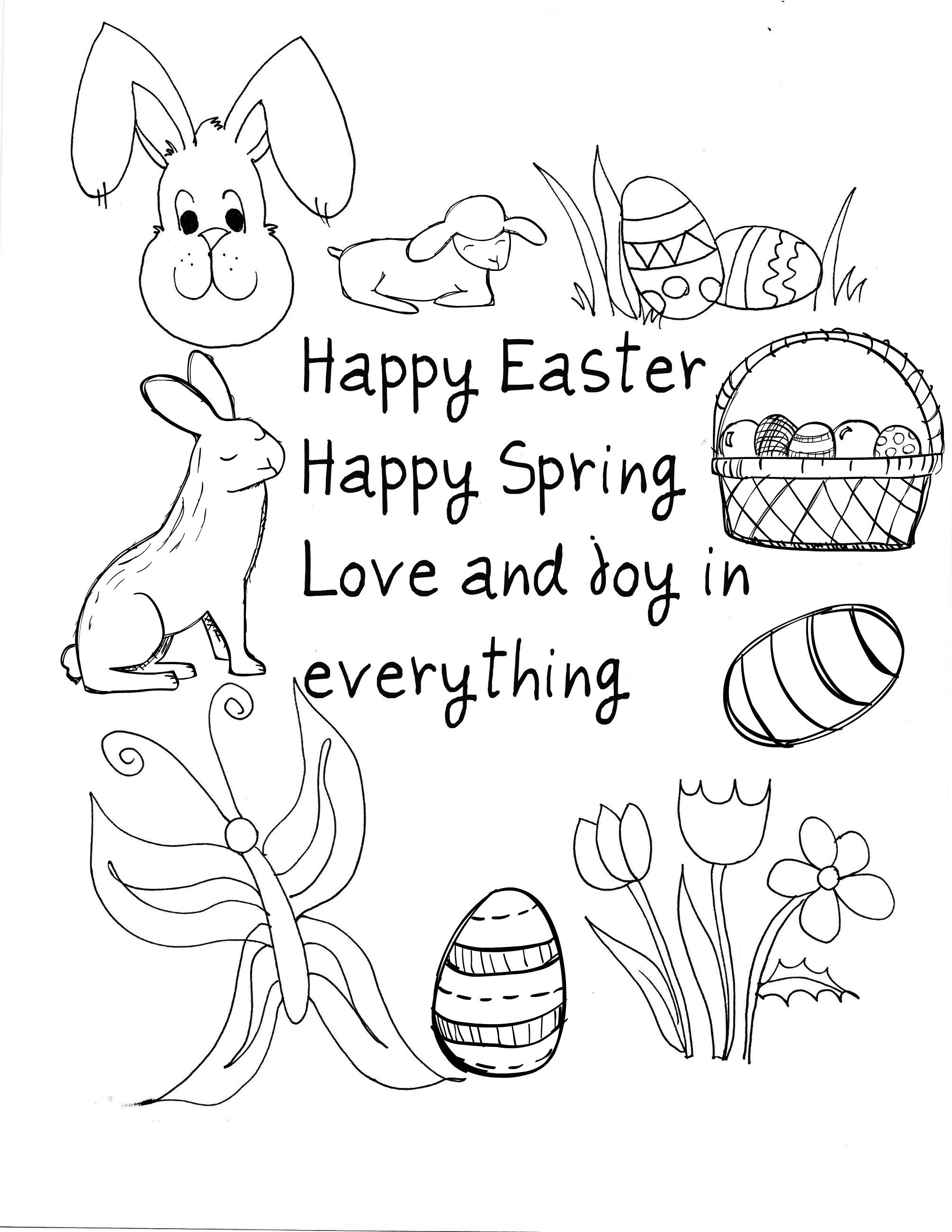 38 Happy Easter Coloring Page Happy Easter Wishes Free Coloring Download Of Easter Coloring Pages for Kids Crazy Little Projects Printable