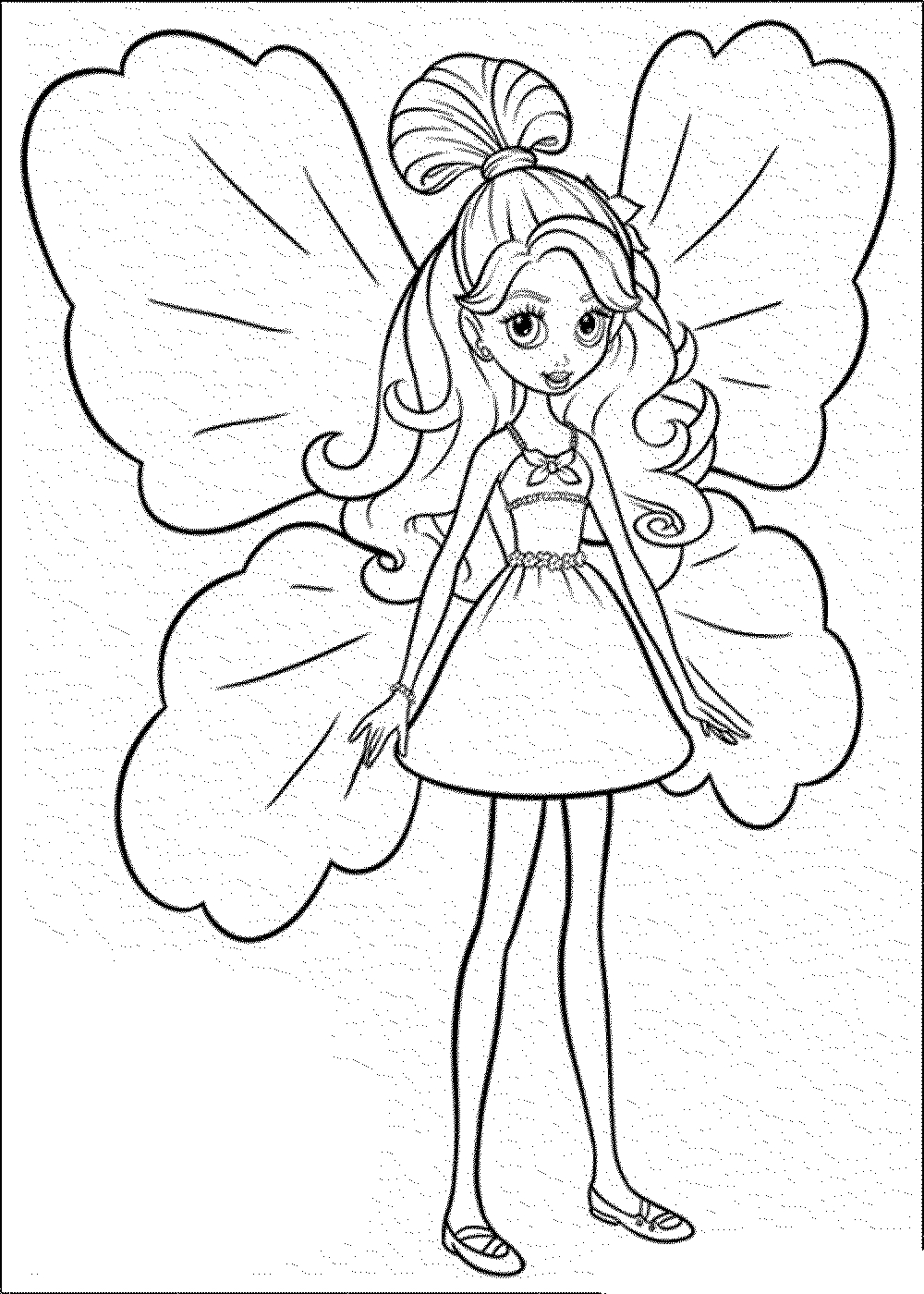 85 Barbie Coloring Pages For Girls Princess Friends And Gallery Of In The Dream