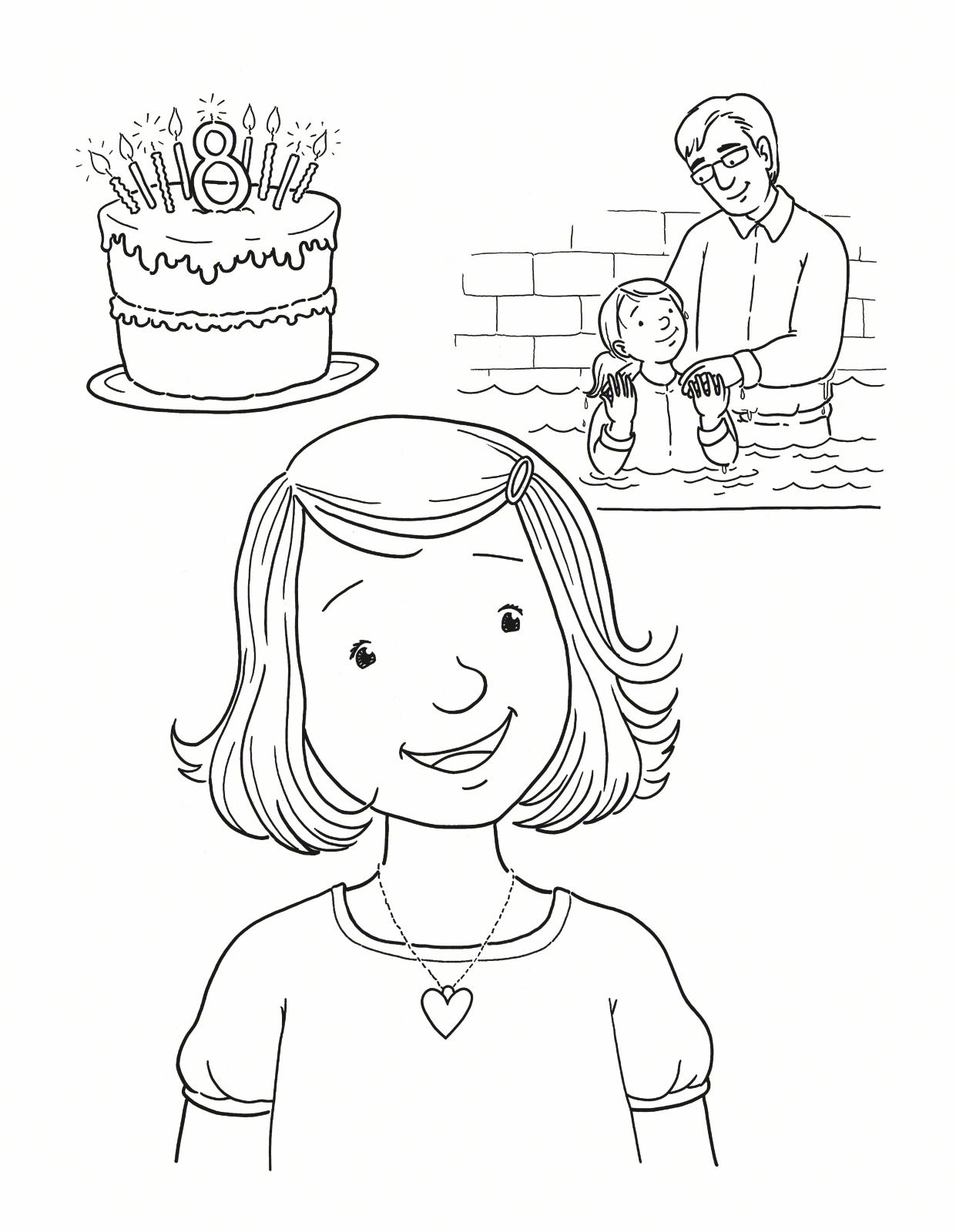8th Birthday Baptism Primary Lds source to Print Of Coloring Pages Thanksgiving Turkey Baptism Page Contemporary Style Download