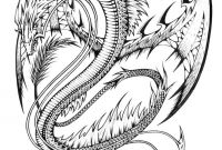Complicated Coloring Pages to Print - Adults Difficult Dragons Coloring Pages Printable Collection
