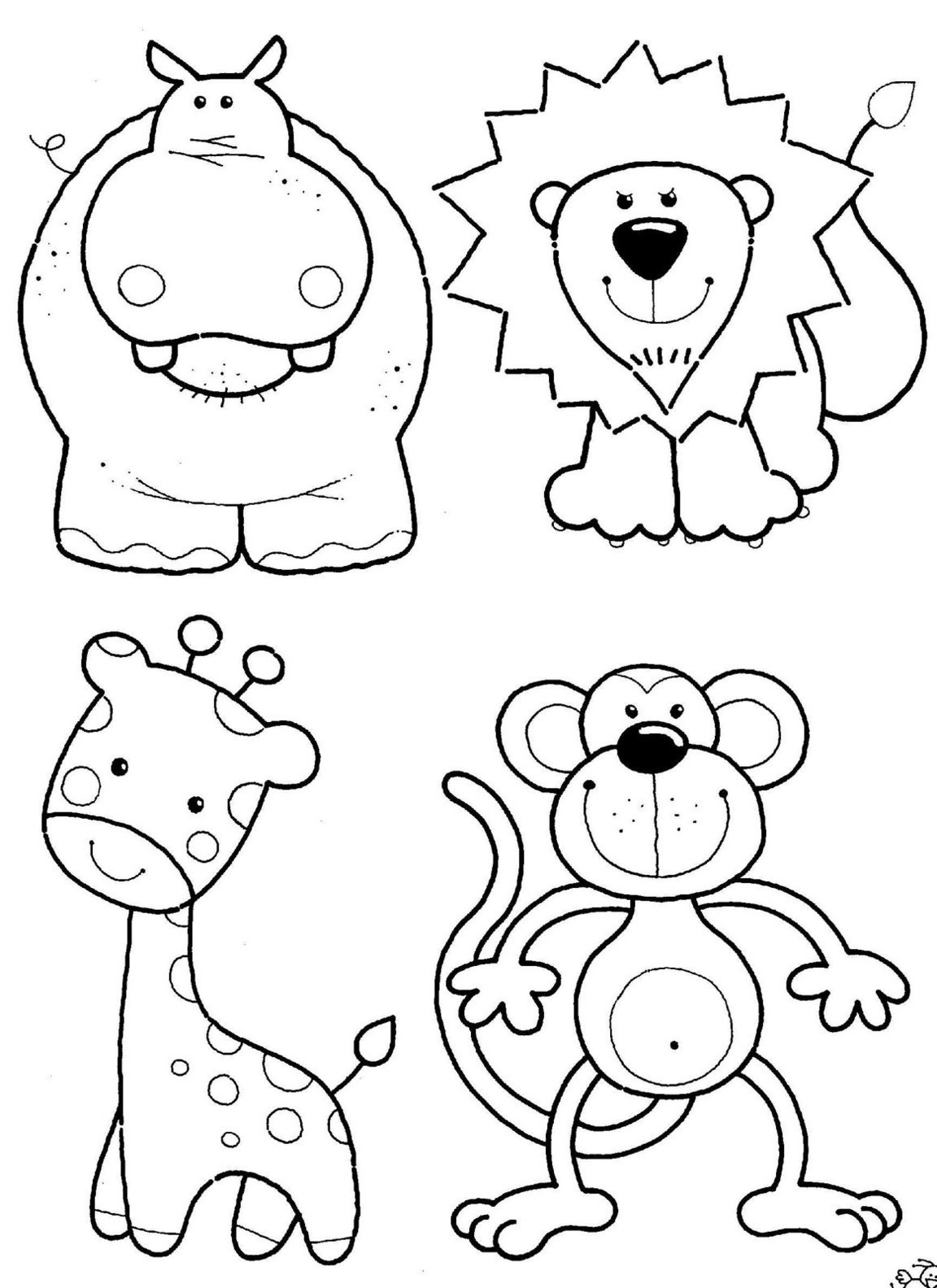 African Safari Coloring Pages Printable 4m - Free For kids