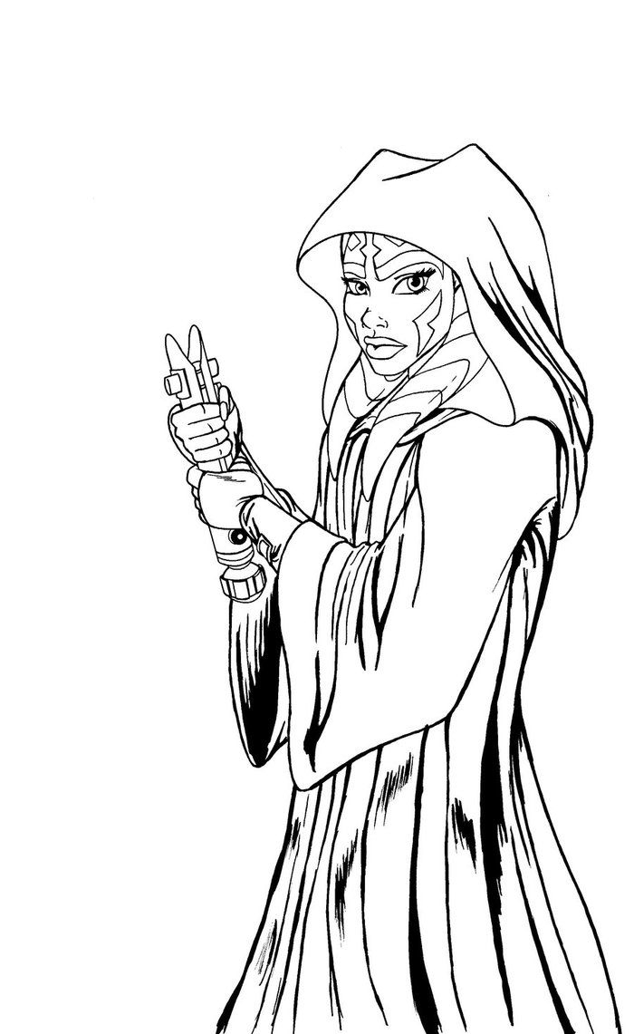 Ahsoka Coloring Pages and Print for Free Collection Of Unique Star Wars Cartoon Characters Coloring Pages Collection to Print