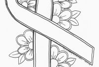 Breast Cancer Coloring Pages - An original by Sandra Walker 2016 Ribbon for Cancer Color It Any Printable