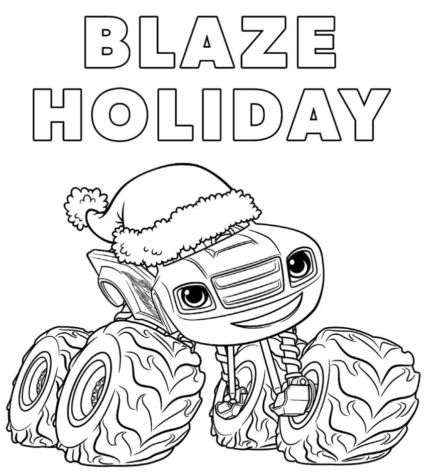 Blaze Coloring Sheets Print - Worksheet & Coloring Pages