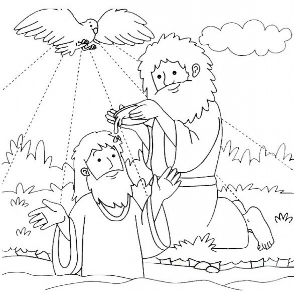 Awesome Jesus Being Baptized Coloring Pages Gallery Printable Of Coloring Pages Thanksgiving Turkey Baptism Page Contemporary Style Download