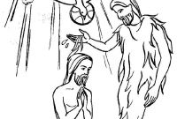 Baptism Coloring Pages - Awesome John the Baptist Coloring Pages Printable with Baptism and Gallery