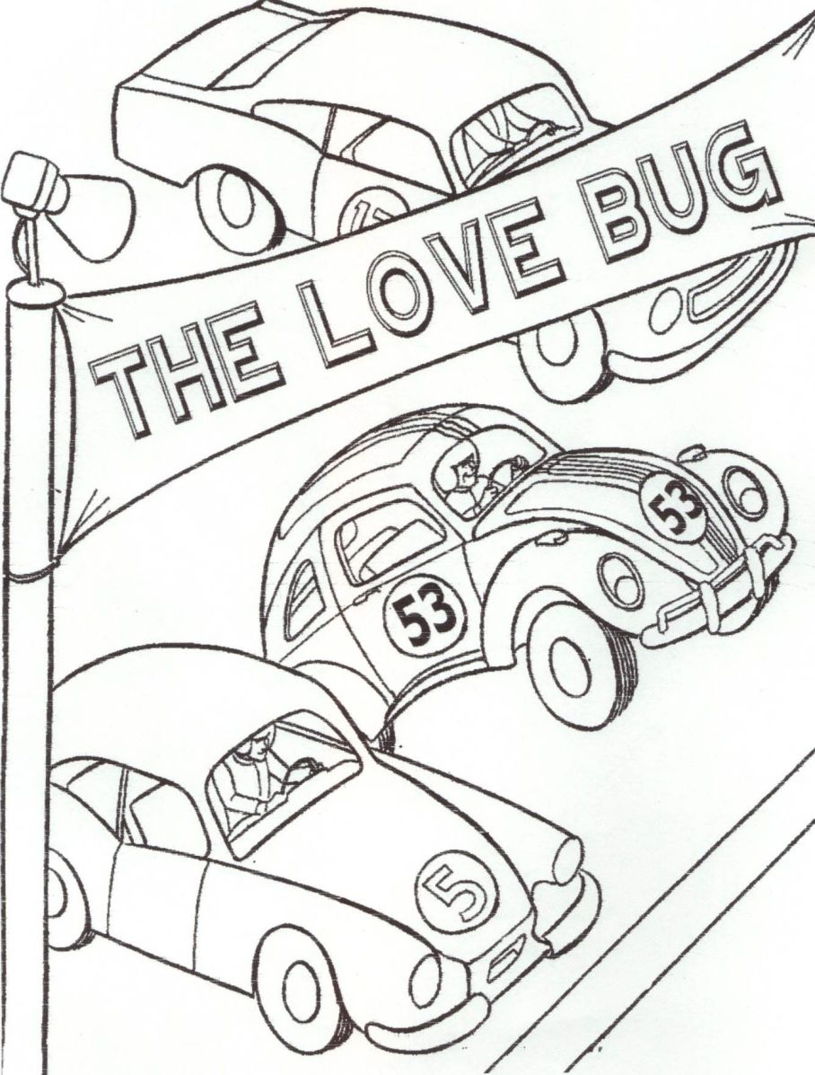 Volkswagen Beetle Coloring Pages to Print 16f - Free For Children