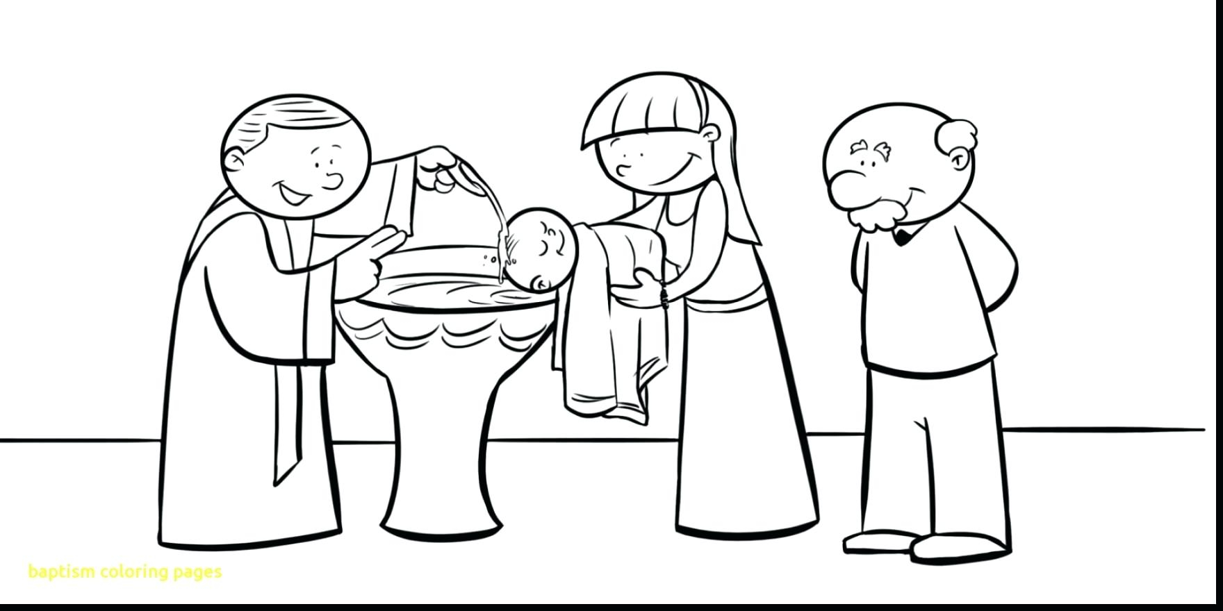 Baptism Coloring Pages Jesus Page With Gallery