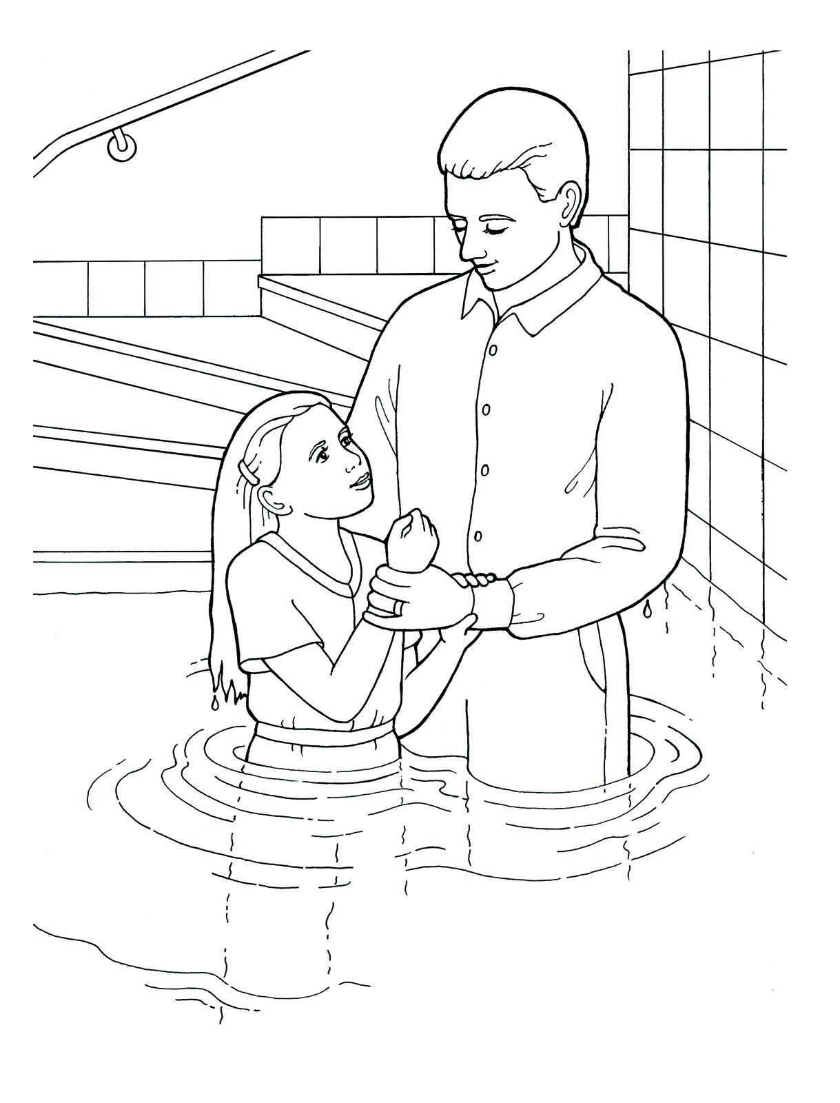 Awesome John the Baptist Coloring Pages Printable with Baptism and ...
