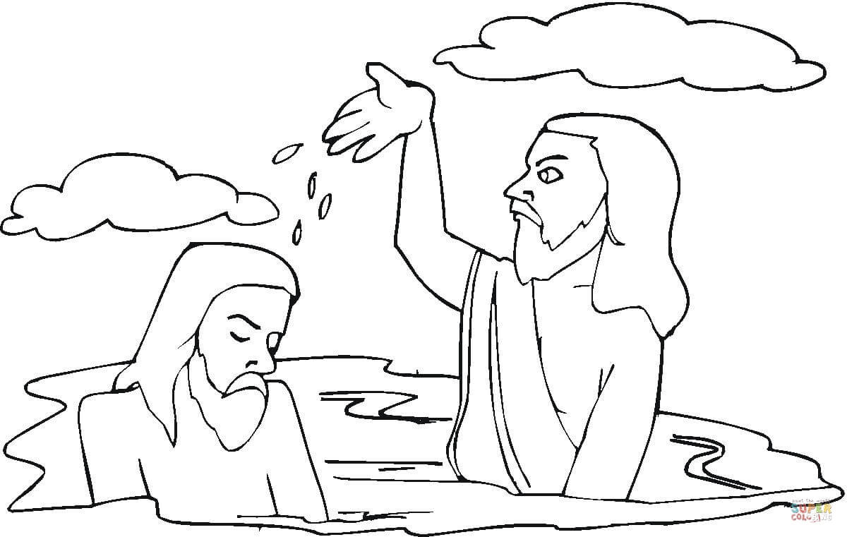 Baptism Of Jesus Coloring Page Printable Of Coloring Pages Thanksgiving Turkey Baptism Page Contemporary Style Download