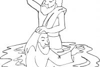 Baptism Coloring Pages - Baptism Of Jesus In River Jordan Coloring Page Gallery