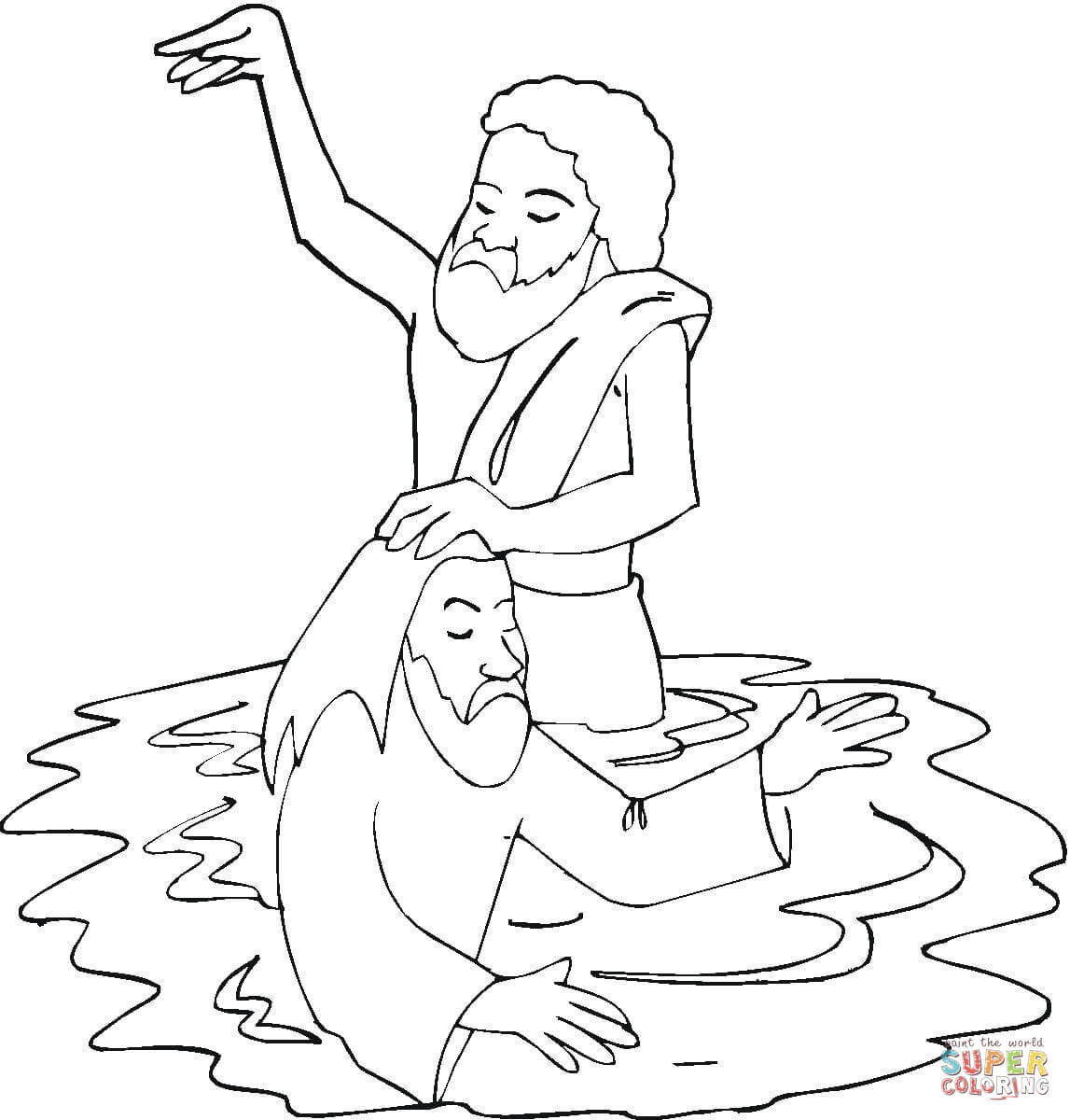 Baptism Of Jesus In River Jordan Coloring Page Gallery – Free ...