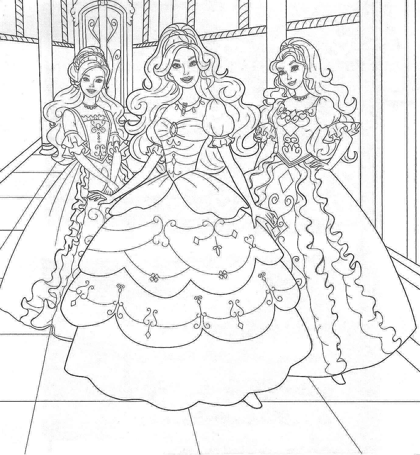 Coloring Pages Barbie To Print