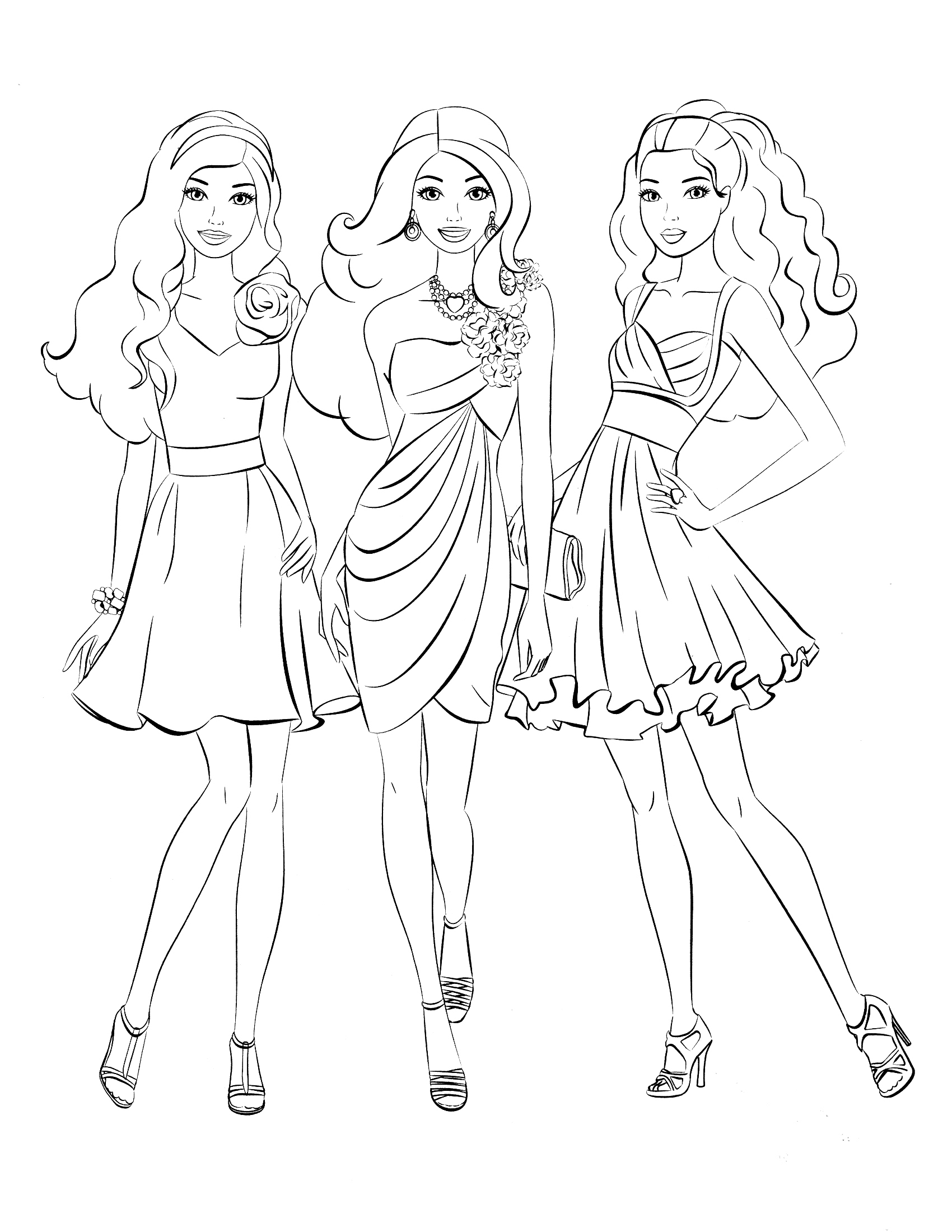 Coloring Pages Barbie to Print 3e - Save it to your computer