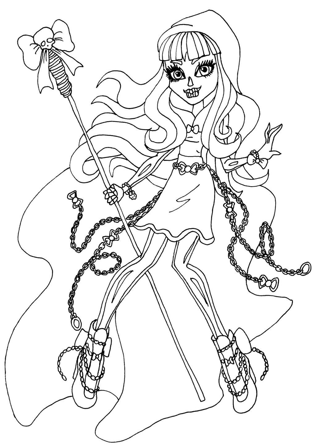 Best Monster High Coloring Pages Printable Print Color Craft Pic to Print Of Wydowna Spider by Elfkena On Deviantart to Print
