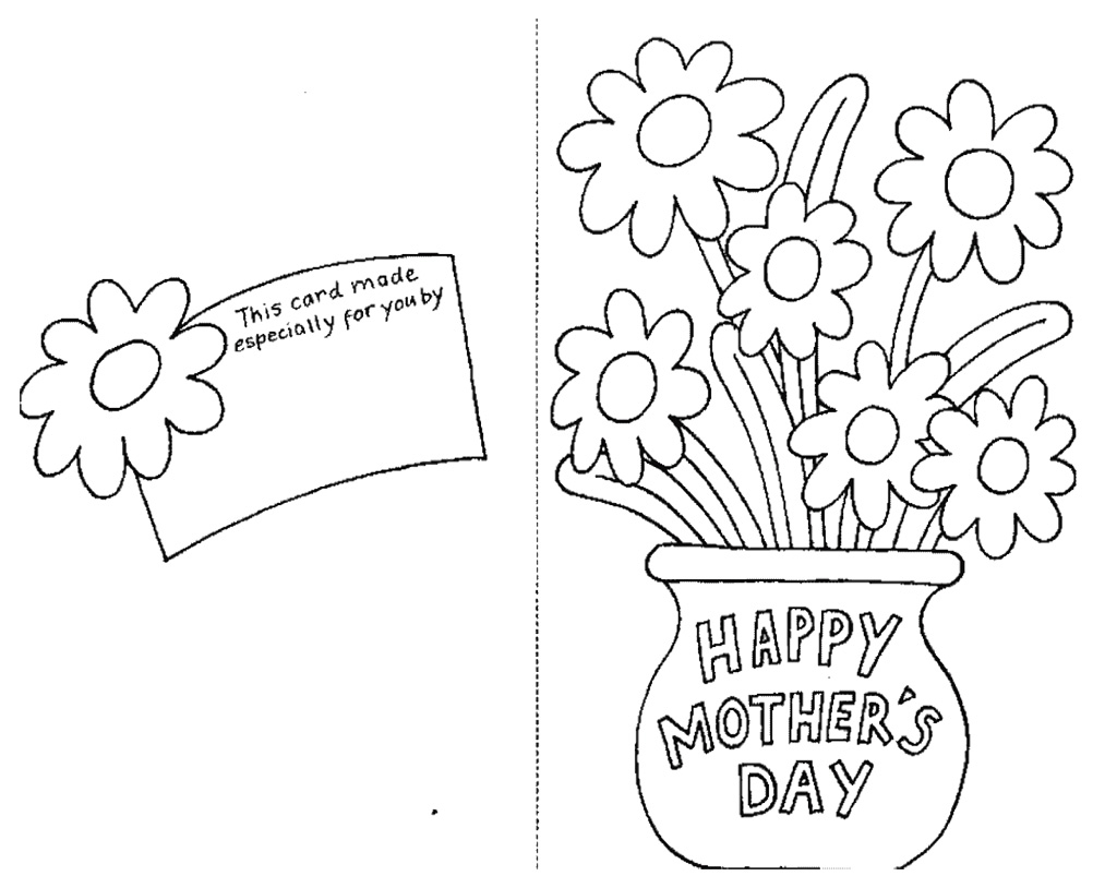 Mothers Day Coloring Pages for Preschool to Print 8c - Free For kids