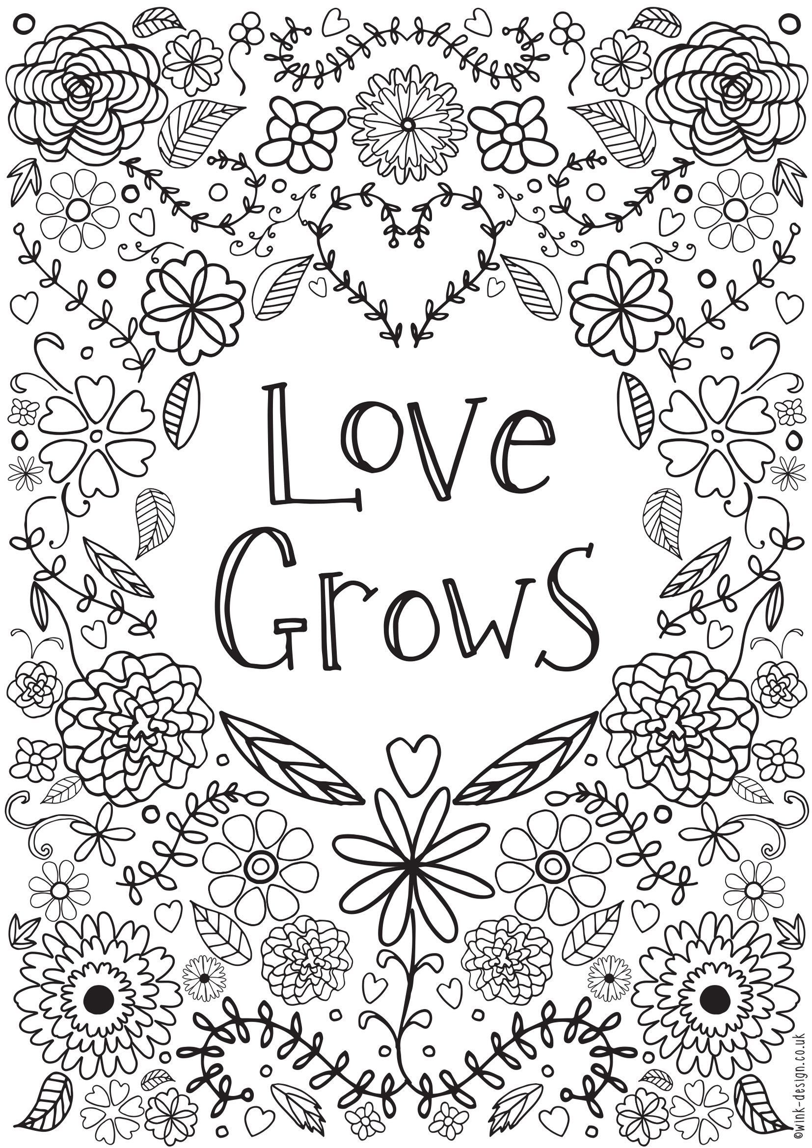 Best Printable Adult Coloring Pages Quotes Printable Collection ...