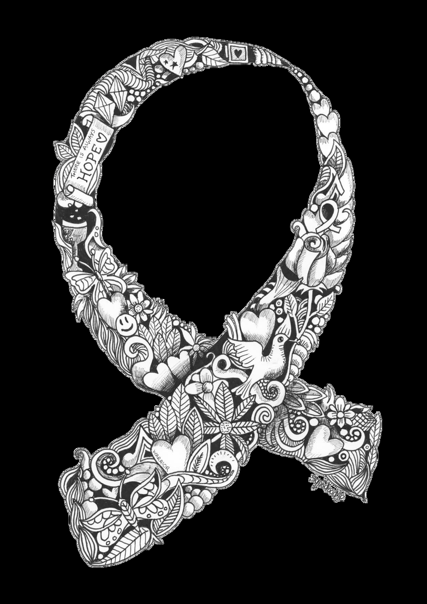 Breast Cancer Awareness Month 2016 Coloring Page – Breast Cancer Collection Of Cancer Ribbon Drawing at Getdrawings to Print