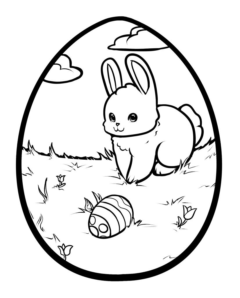 Bunny Egg by Rustchic Bucket Printable Of Easter Basket Coloring Pages to Print Gallery