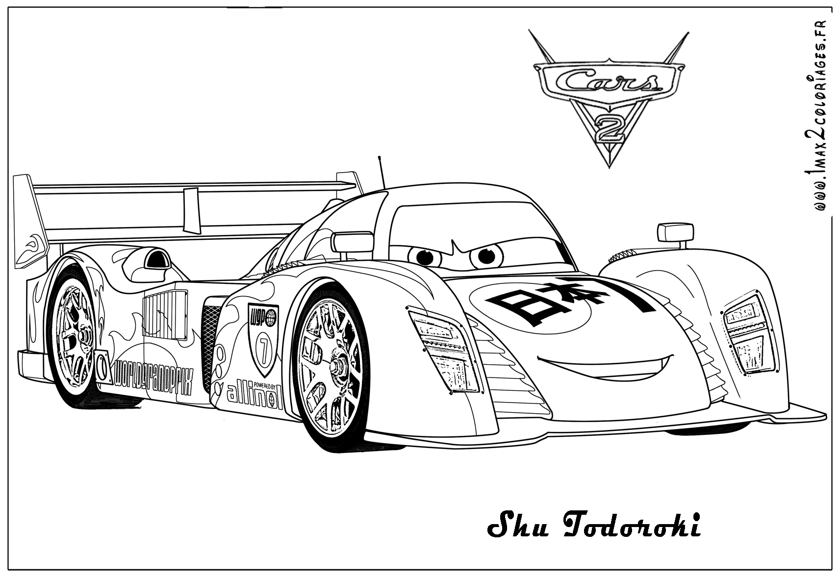 Lightning Mcqueen Coloring Pages Cars 2 Printable Pertaining to to ...