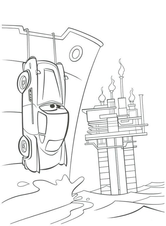 Cars 2 Colouring Pages Finn Mcmissile Coloring Free To Print Of