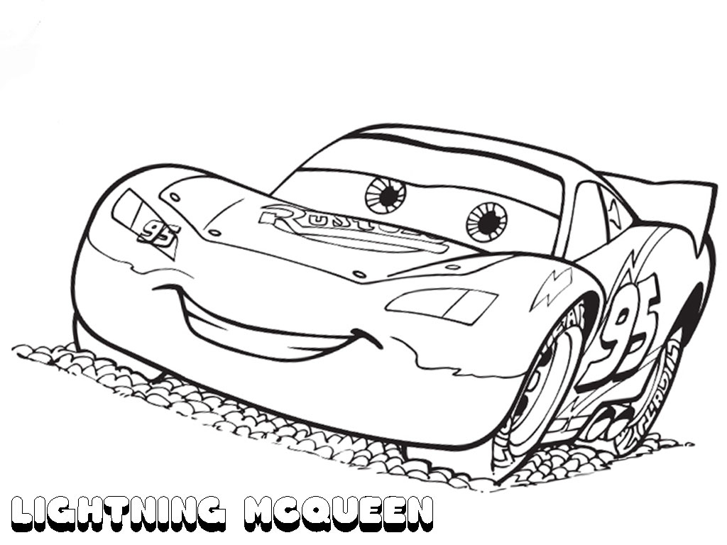 Coloring Pages Sports Cars - Cars Lighting Mcqueen Free Coloring Page • Cars Movies Coloring Pages Gallery