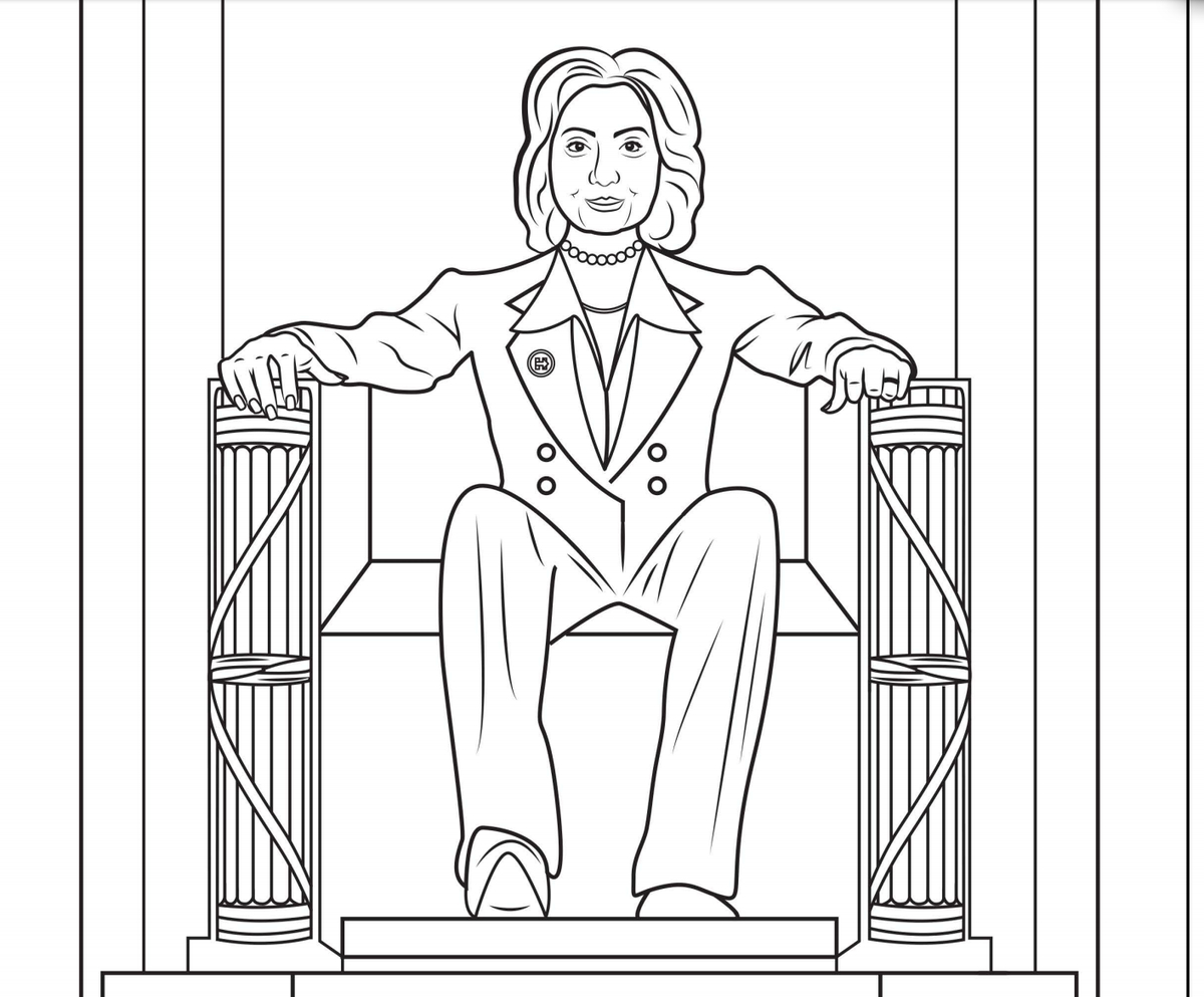 Coloring Book Imagines Hillary Clinton as Daenerys Targaryen Printable Of This Hillary Clinton Coloring Book is Jam Packed with Girl Power Gallery