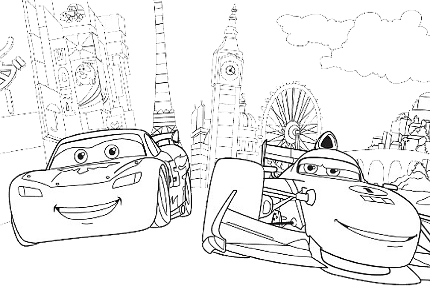 Coloring In Cars Coloring Pages From The 2 Disney Movies Coloring To Print  Of Free Disney