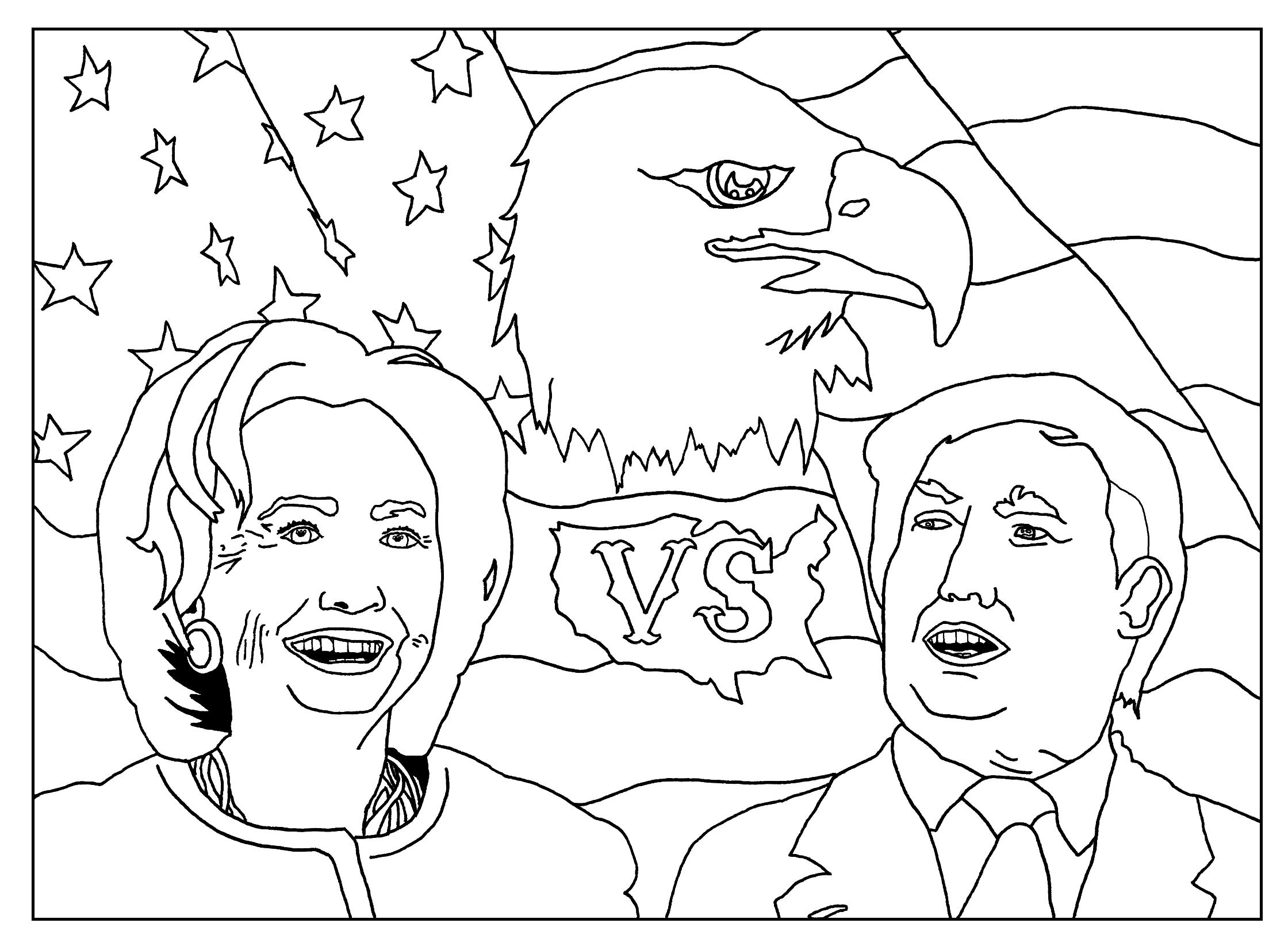Coloring Page Inspired by the 2016 Us Presidential Elections Gallery Of Hillary Clinton Coloring Pages Collection to Print