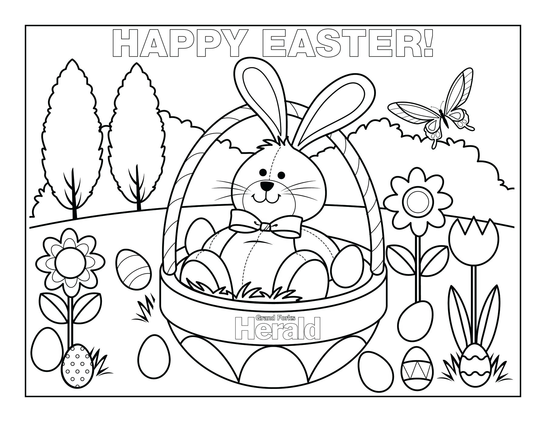 Free Easter Coloring Pages 25 Free Printable Easter Coloring Pages ...