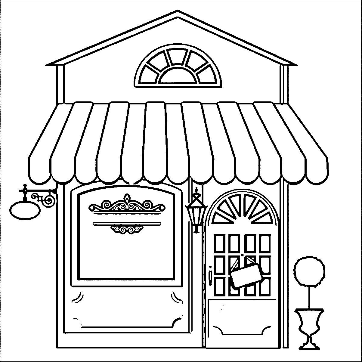 Coloring Pages for Restaurants Free Collection Of Restaurant Building Great Restaurant Coloring Page Wecoloringpage Printable