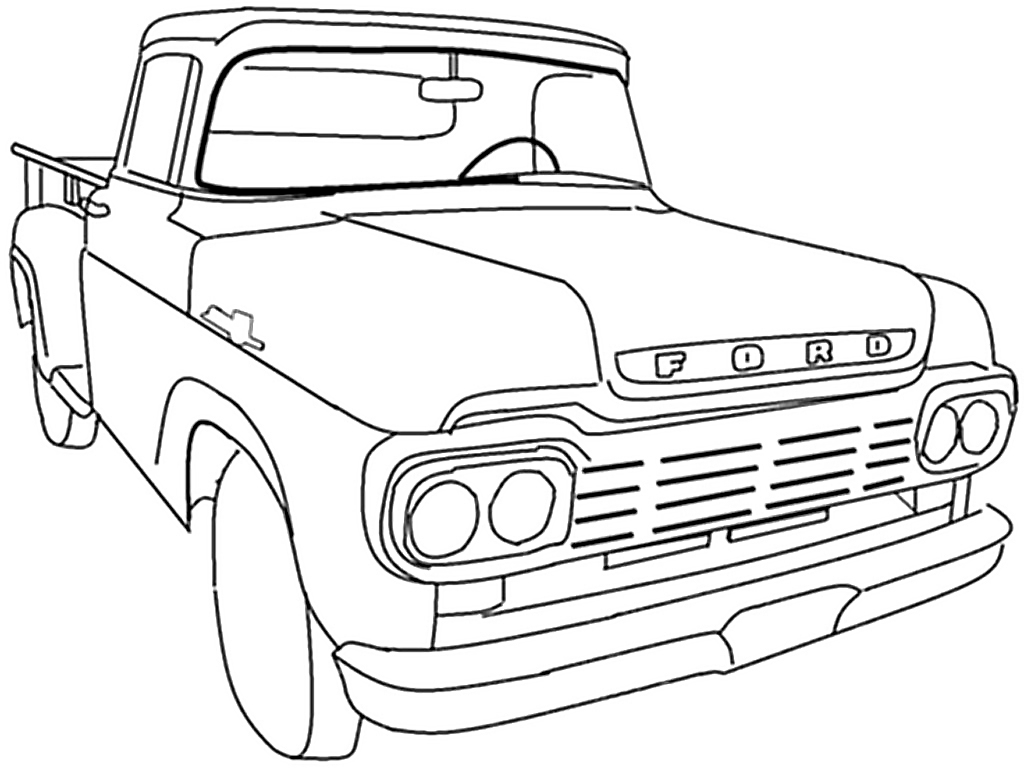 2012 ford f350 dually lifted coloring page printable
