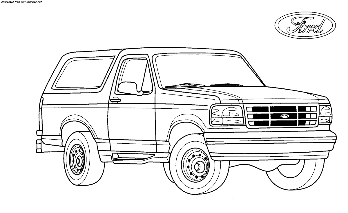 Ford Truck Coloring Pages Download | Free Coloring Sheets