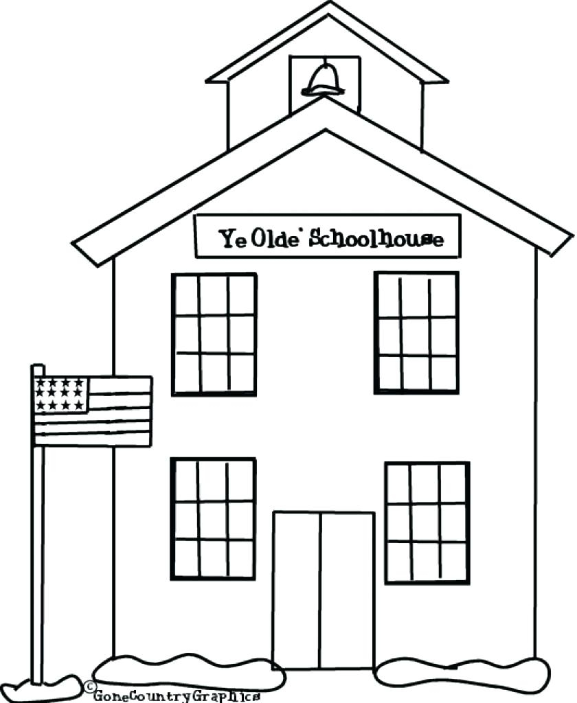 Coloring Pages House Coloring Pages Enchanting Sheets Free Full Gallery Of School Coloring Pages with 35 Coloring Page A School Small School Collection