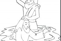 Baptism Coloring Pages - Coloring Pages John the Baptist Coloring Page Baptism Pages Co for Printable