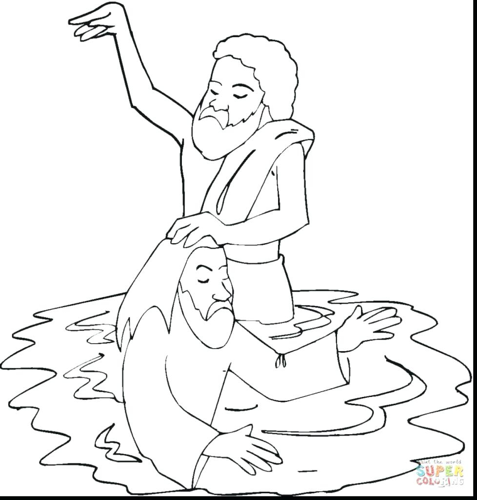 Baptism Coloring Pages Download | Free Coloring Sheets