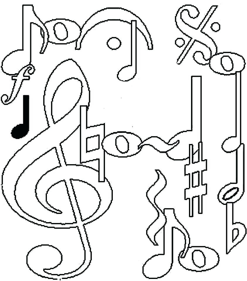 Coloring Pages Music Coloring Pages Printable for Kindergarten Printable Of Coloring Pages Music Notes Bold Free Learning Fun Note Adult Download