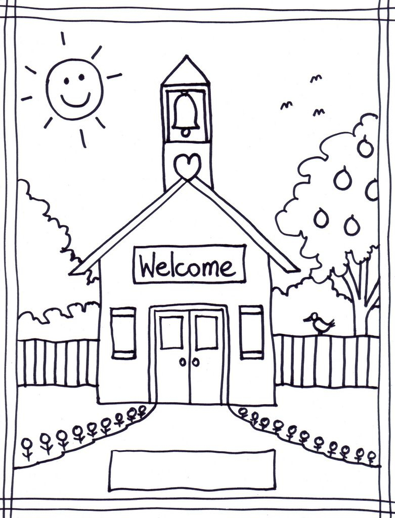 School House Coloring Pages Printable 7g - Free For kids