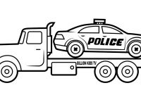 Coloring Pages Of Car - Colors Police Car Carrier Truck Coloring Pages Vehicles Video for Printable