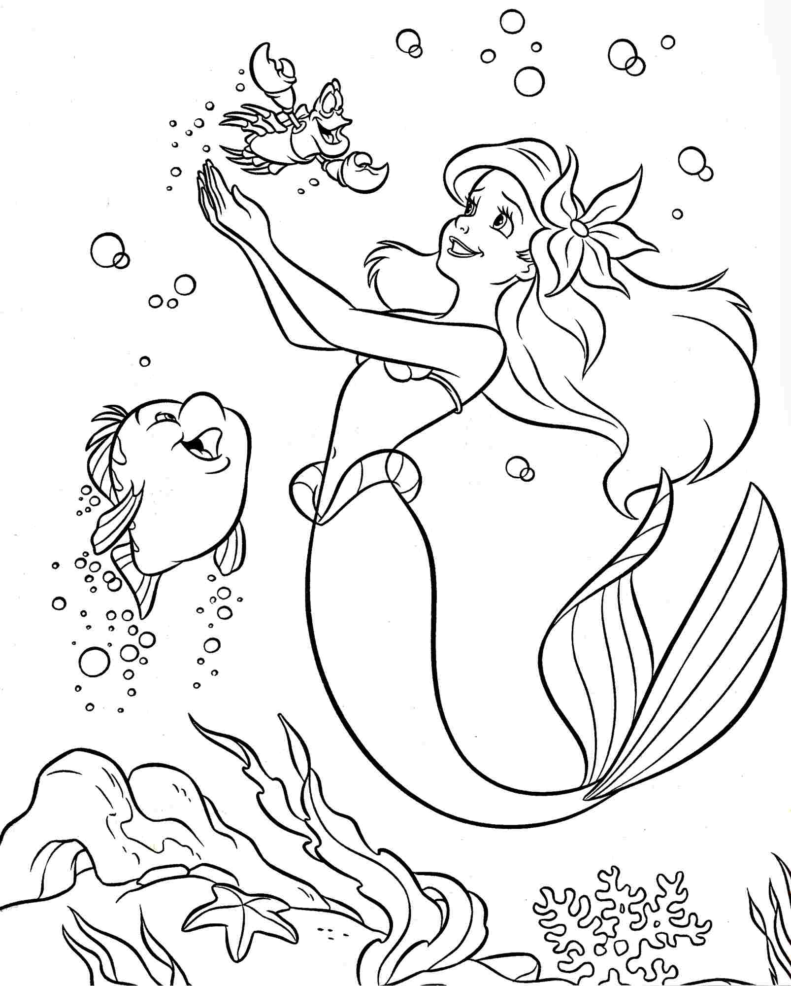 Colouring Pages Coloring Pages Disney Princess Little Mermaid Ariel Printable Of Walt Disney Coloring Pages Marie Walt Disney Characters Download