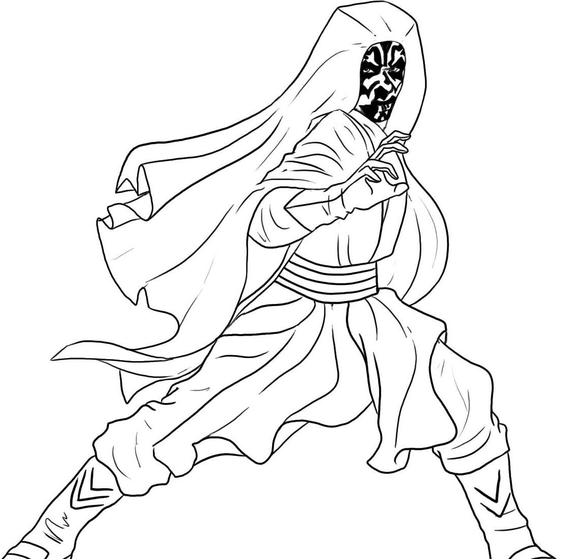 Darth Maul Coloring Page New How to Draw Step by Star Wars Download Of Unique Star Wars Cartoon Characters Coloring Pages Collection to Print