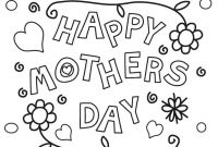 "Mothers Day Coloring Pages for Preschool - 👋""mother S Day Coloring Pages"" to Print for Preschoolers toddlers Collection"
