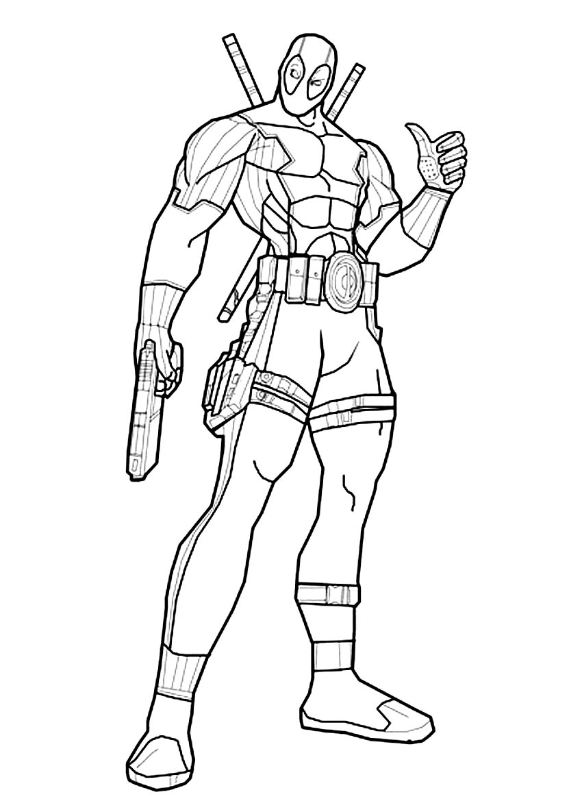 Deadpool 2 Superheroes – Printable Coloring Pages Download Of 30 Dc Superhero Coloring Pages Dc Marvel Ic Superhero Girl to Print