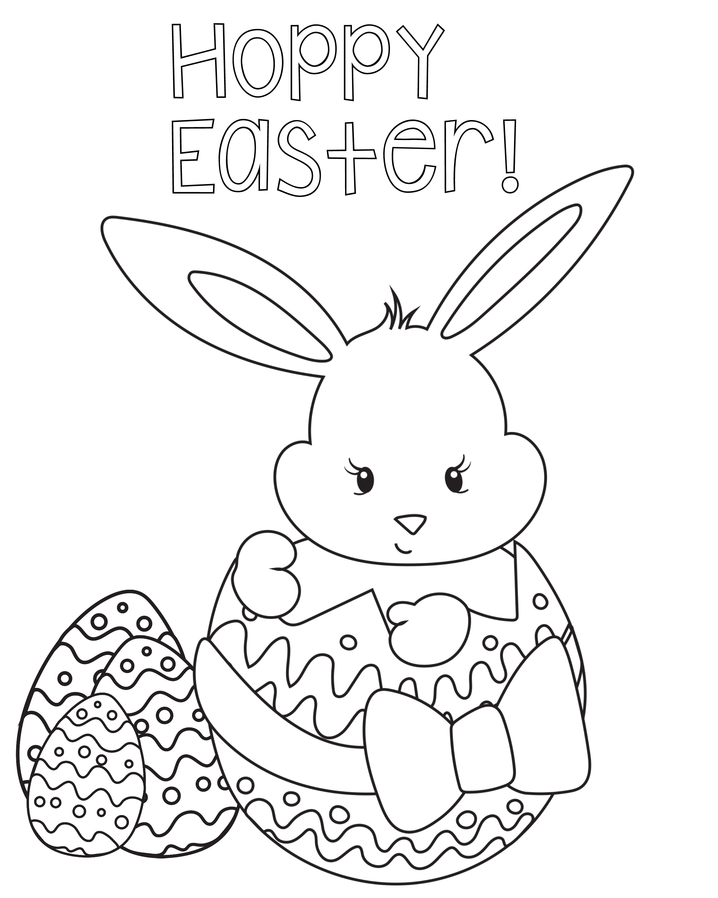 Delighted Bunny Print Out Coloring Pages Easter for Kids Crazy Printable Of Easter Coloring Pages for Kids Crazy Little Projects Printable