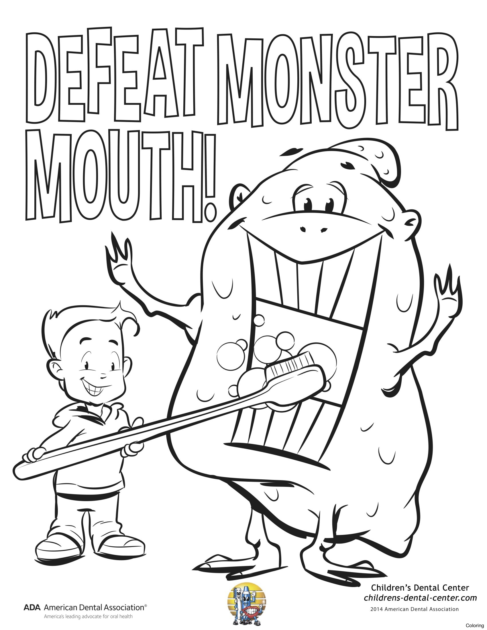 Dental Coloring Pages for Kids Gallery 14n - Free For Children
