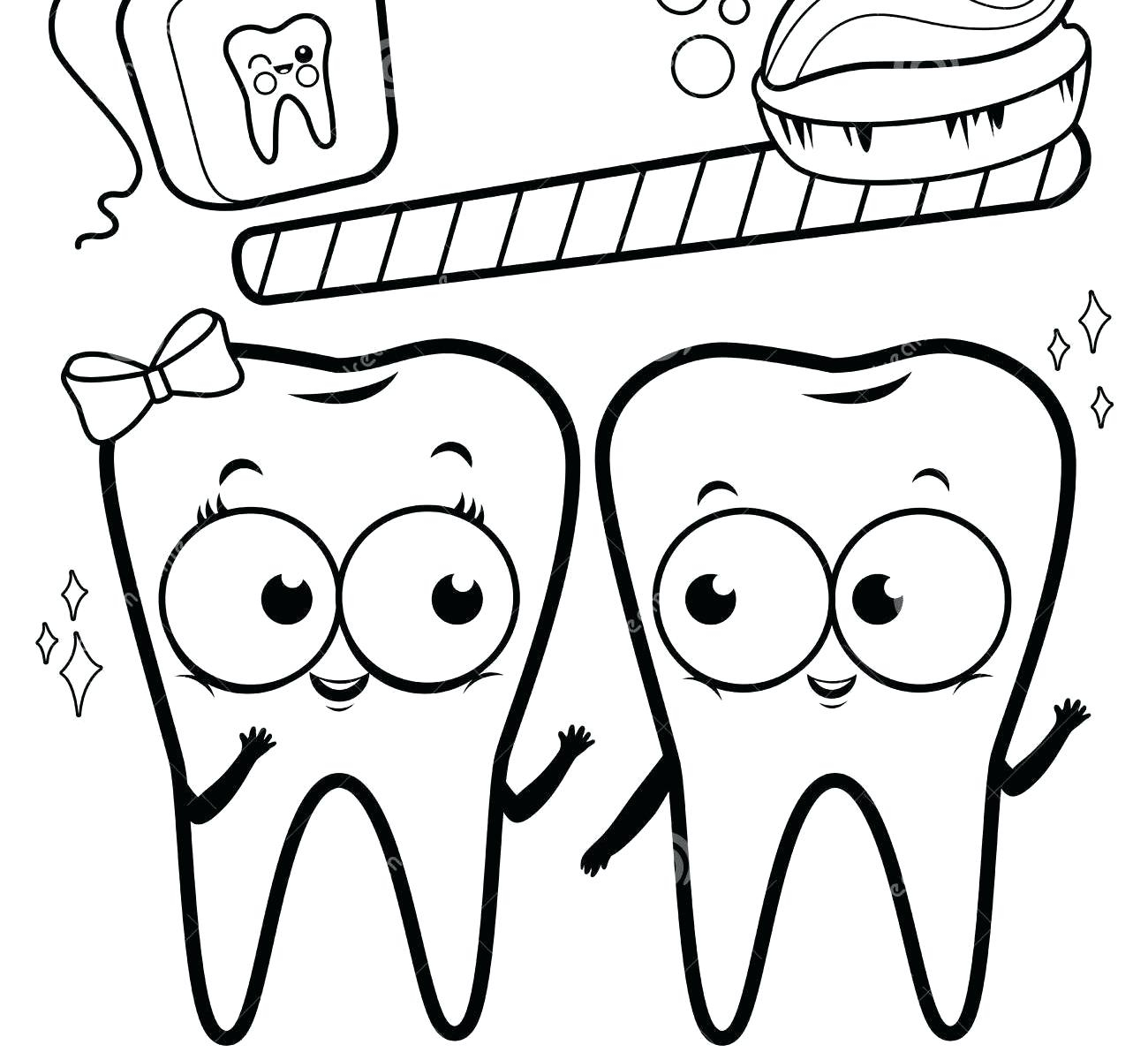 Dental Coloring Pages Printable tooth Kids Teeth Page and Color Printable Of Coloring Pages tooth Coloring Pages Unique Happy Brush Dental Page Gallery